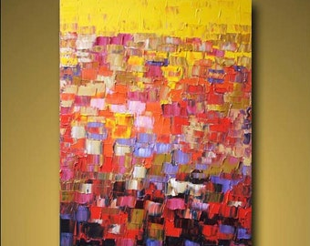 """no18 Huge Painting Original Large Abstract Modern Art Oil Painting - Michel Campeau - MADE TO ORDER - 48''x60"""""""