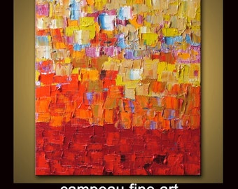 """no59 Original Large Abstract Modern Art Oil Painting Huge Painting - Michel Campeau - MADE-TO-ORDER - 48''x60"""""""