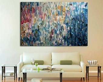 """Original Large Abstract Modern Art Oil Painting - Michel Campeau - MADE-TO-ORDER - 48''x60"""""""
