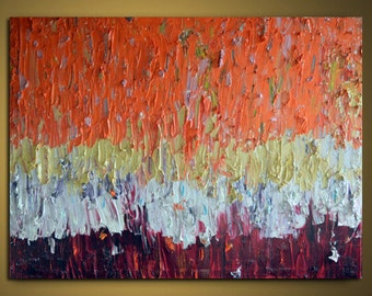 """Huge Painting palette knife Original Large Abstract Modern Art Oil Painting Michel Campeau MADE-TO-ORDER 48""""x60"""""""
