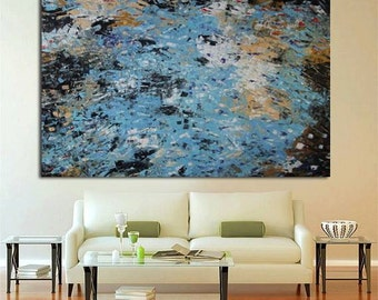 """Original Large Abstract Modern Art Oil Painting - Michel Campeau - MADE-TO-ORDER - 48""""x60"""""""