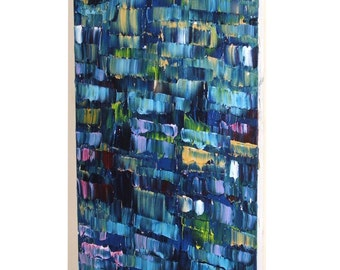 """Huge Painting - Original Large Abstract Modern Art Oil Painting - Michel Campeau - MADE TO ORDER - 36''x72"""""""