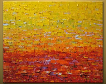 """no82 Huge Painting - Original Large Abstract Modern Art Oil Painting - Michel Campeau - MADE-TO-ORDER - 48''x60"""""""