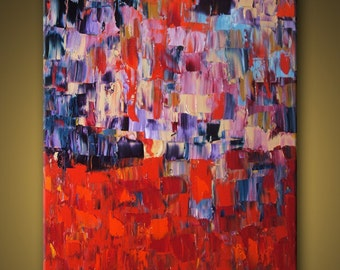 """no25 Huge Painting - Original Large Abstract Modern Art Oil Painting MADE-TO-ORDER 48''x60"""" - Michel Campeau"""