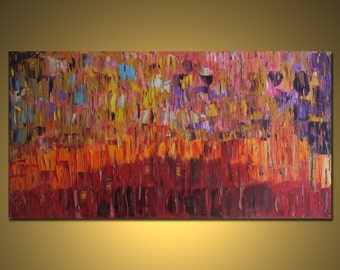"""Huge Painting - Original Large Abstract Modern Art Oil Painting - Michel Campeau MADE-TO-ORDER 36''x72"""""""
