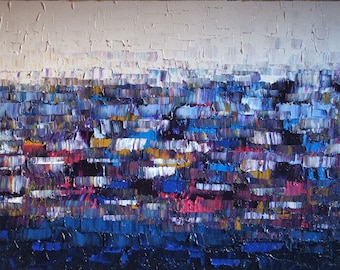 """no23 Huge Painting - Original Large Abstract Modern Art Oil Painting  - Michel Campeau - MADE TO ORDER - 48''x60"""""""
