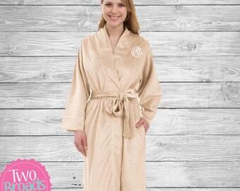 Womens velvet Fleece Robe 594425fe5