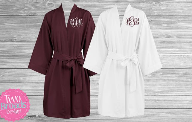ab8438ec92 Cotton Lightweight Bridesmaid Robes