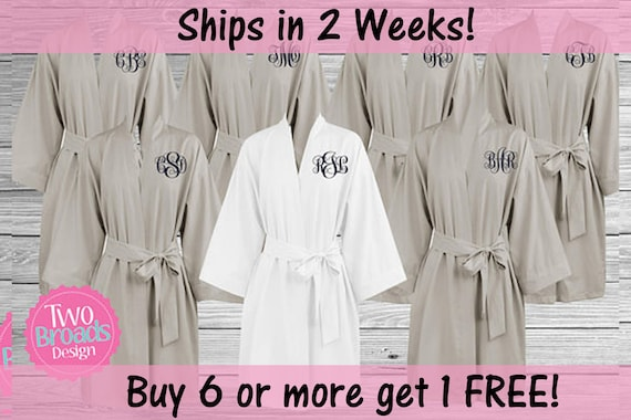 a564150b9f Cotton Lightweight Bridesmaid Robes Soft Cotton Robes Buy 6