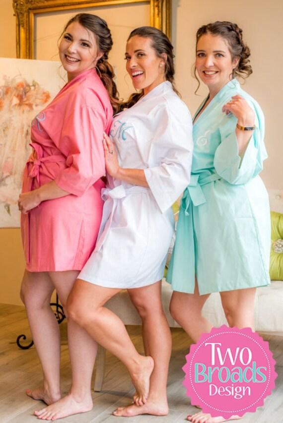 cadfc7419c Cotton Bridesmaid Robes Robes for Bridesmaids Linen Robes