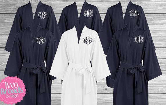 Bridesmaid Robes Cotton Monogrammed Robes Lightweight robes  a3a40e8c5