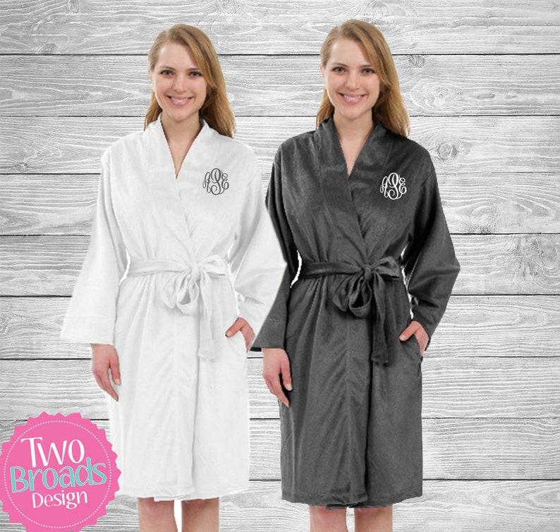 69757e0ef1f4 Set of 5 Womens velvet Fleece Robe Velvet fleece robes