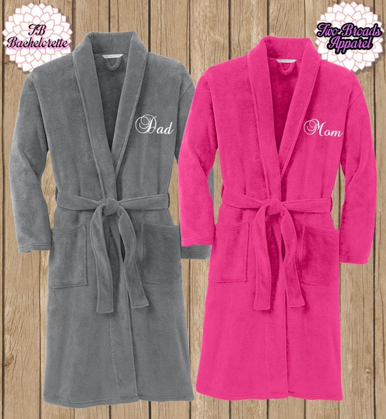 Spa Robe Plush Fleece Robe Monogram Microfleece Shawl Collar  f441814d7