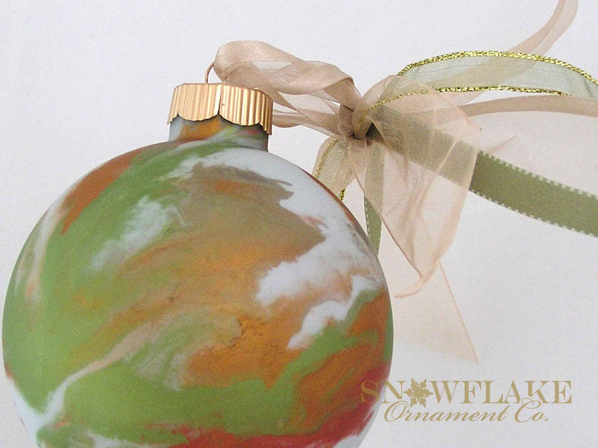 AUTUMN Custom Christmas Ornament Personalized Glass Gift