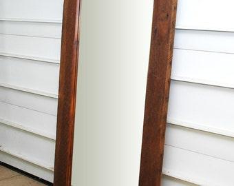 Reclaimed Wood Leaner Mirror 25x70 Floor Mirror