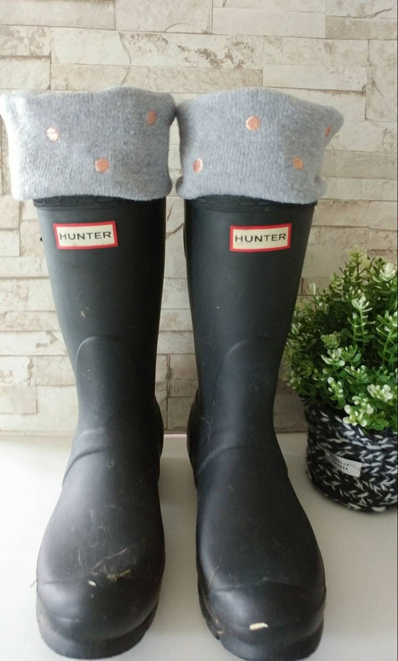 baby sports shoes premium selection Hunter Boots, Polka Dot Cuff, fleece cream sock, Upcycle,Rain Bootsocks,  Tall or Short Rain Boots, Boot Cuffs,Socks,Size sm/med or Lrg/Xlg