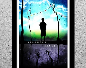 Stranger Things - Eleven - The Upside Down Art Poster Print 13x19