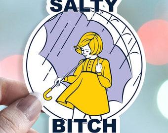 Salty Bitch - Morton Salt Girl - Waterproof Vinyl Sticker