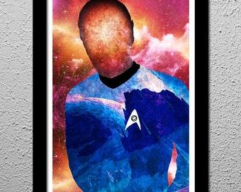 Star Trek Spock - Leonard Nimoy - Vulcan - Original Minimalist Art Poster Print