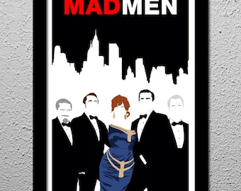 Mad Men - Original Limited Edition Art Print Poster - Don Draper - Sterling Cooper Pryce