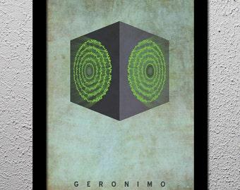 Doctor Who 11th Dr Matt Smith - Pandorica - Geronimo - Original Limited 1st Edition - Minimalist Art Poster Print - 13x19