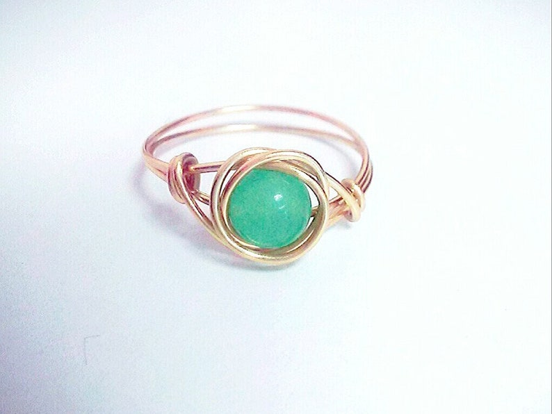 Gemstone Wire Sculpted Ring