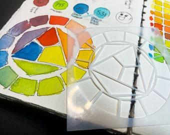 Color Theory Stencil- Color Wheel