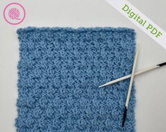 Needle Knit Ripple Twist Square