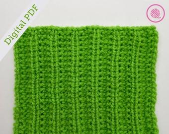 Loom Knit Seeded (Mistake) Rib Square