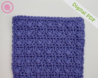 Crochet Crossed Cluster Square