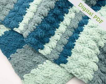 Crochet Crossed Cluster Blanket