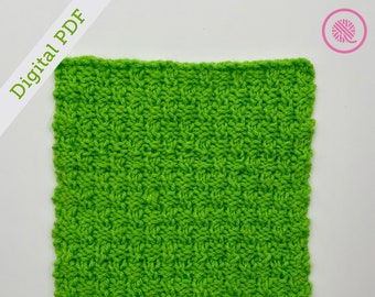 Loom Knit Ripple Twist Square