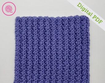 Crochet Faux Mistake Rib Square