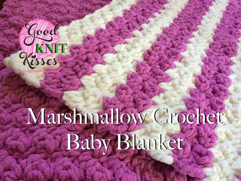 Crochet Baby Blanket Pattern Marshmallow Crochet Baby Etsy