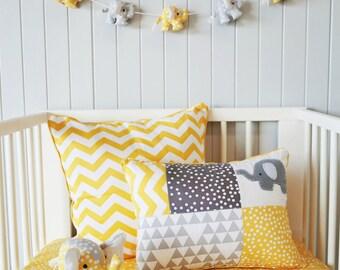 SALE..Yellow Chevron cushion cover ; yellow pillow, chevron,