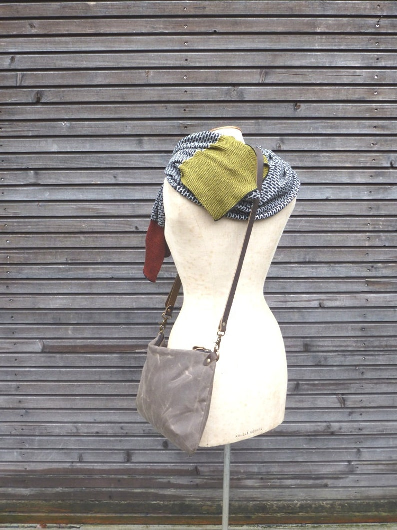 Waxed canvas day bag  zipper bag  COLLECTION UNISEX