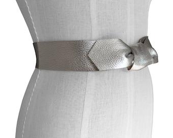 Party belt, Silver Bow Belt, Basic Leather Belt, Leather tie belt, Leather Coat belt, Leather strap belt, 4 way belt, Reversible belt, Lena
