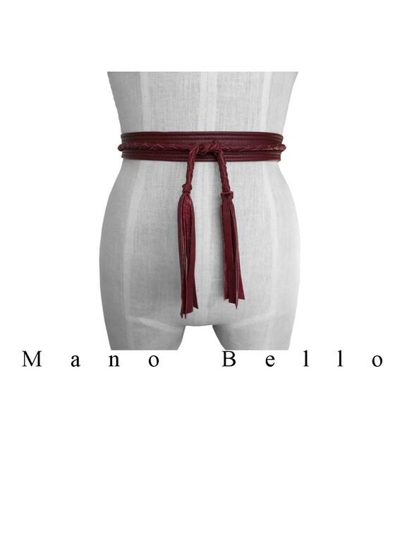 Tressé ceinture Obi ceinture en cuir tressé ceinture à nouer   Etsy 422be53096c