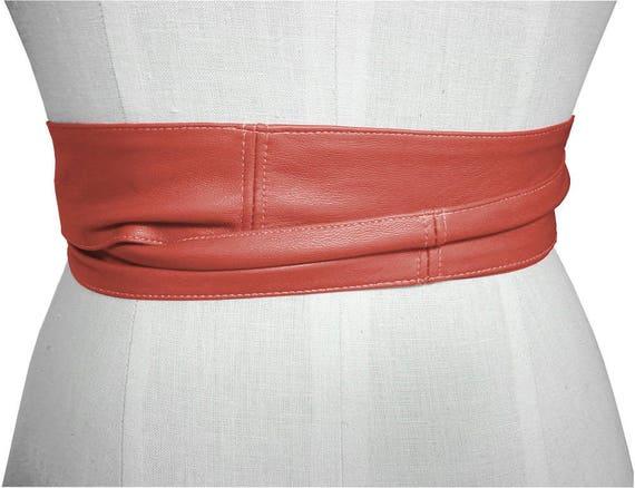 Double Wrap ceinture Ella ceinture Orange en cuir attache   Etsy 90113604ca3