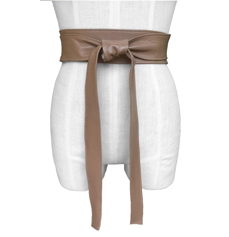 7fa8f3157c385a Double Wrap Belt Taupe leather obi belt Leather Wrap Belt Soft
