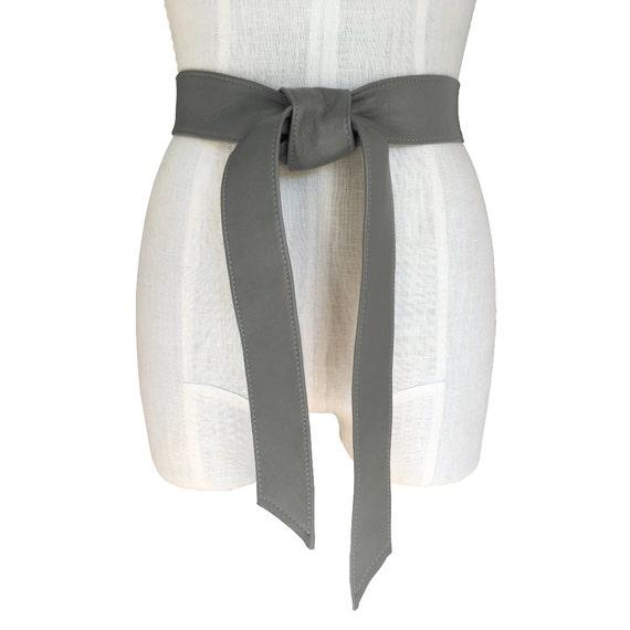 Doux ceinture cuir ceinture manteau gris classique   Etsy ef803a8e880