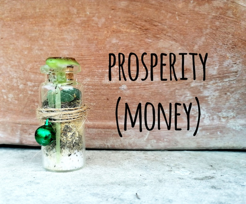 Witch Spell Jar  Prosperity Money Abundance image 0