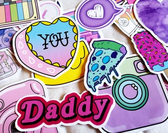 Girly Stickers - a set of 30 - Free Shipping