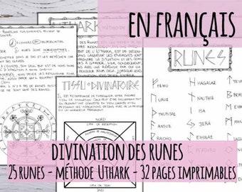 Livre des ombres: en Français, Signification et interprétation des runes, 32 pages imprimables