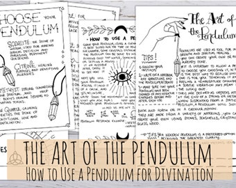 Book of Shadows: Divination tool, pendulum board and use for beginners printable