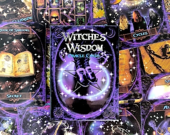 Witches' Wisdom Oracle Cards - Travel Deck Size - 48 Cards - Free Shipping