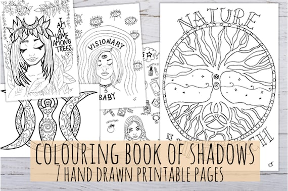 picture regarding Printable Book of Shadows titled Coloring E book of Shadows - Printable