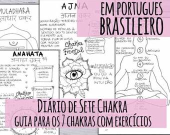 Diário dos 7 Chakras - Em Portugues Brasileiro - Guia para os 7 Chakras com exercícios