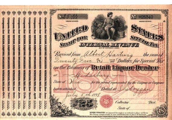 Antike 1889 Schnaps Whisky Weinhändler Moonshine Noch Lizenz Etsy
