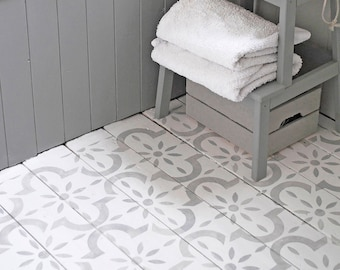Medina Stencil for Floors- Wall, Furniture and Fabric Stencil - Moroccan Stencil - DIY Floor Project.